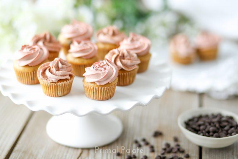 Chocolate Chip Mini Cupcakes - Paleo-5