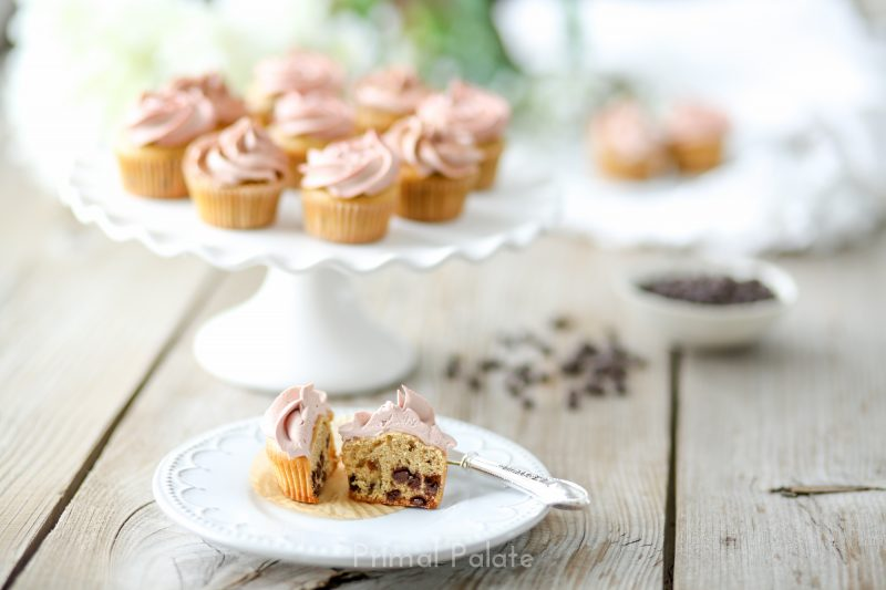 Chocolate Chip Mini Cupcakes - Paleo-7