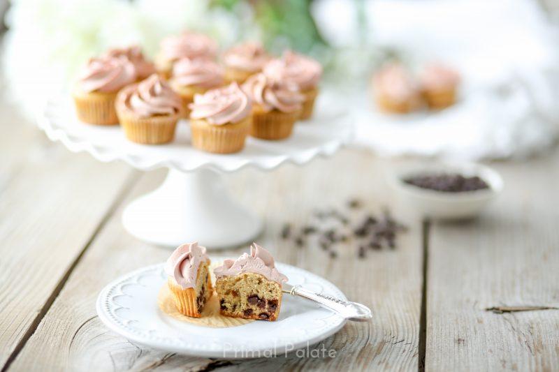 Chocolate Chip Mini Cupcakes - Paleo-7