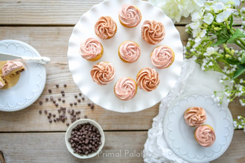 Chocolate Chip Mini Cupcakes - Paleo-8