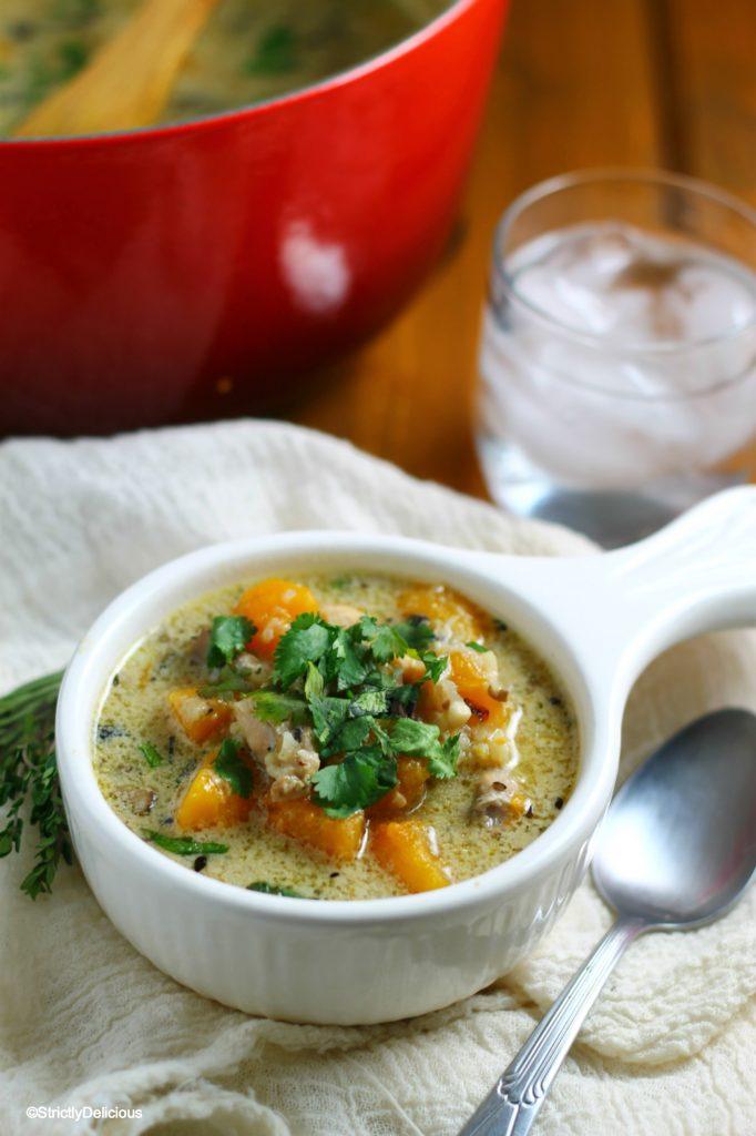 Creamy Chicken & Cauliflower Rice Soup Recipe