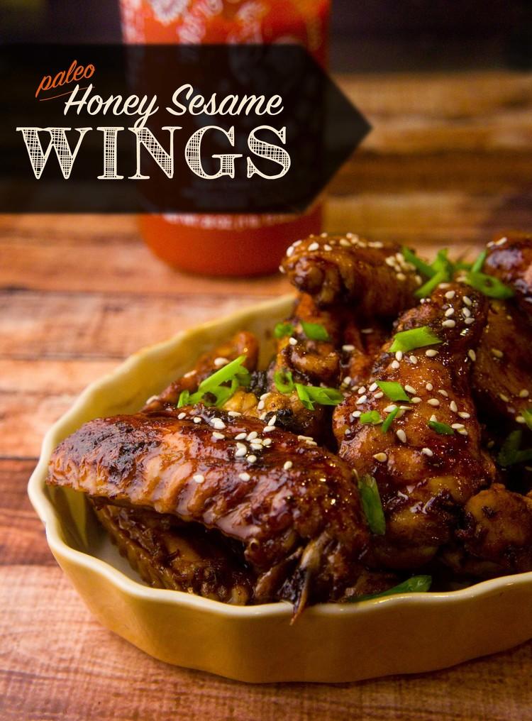 Honey Sesame Wings from Make it Paleo II