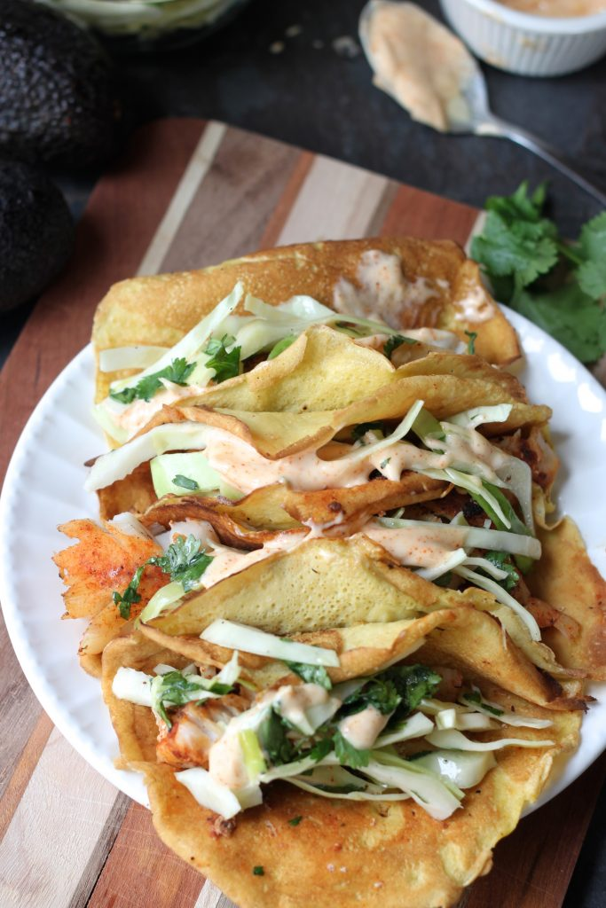 blackened fish tacos from the performance paleo cookbook