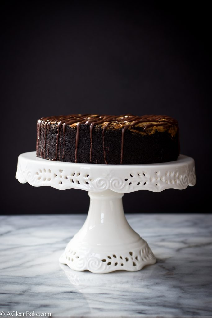 Deep Dish Chocolate Cake by A Clean Bake