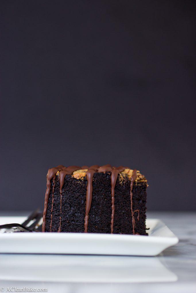 Deep Dish Chocolate Cake by A Clean Bake