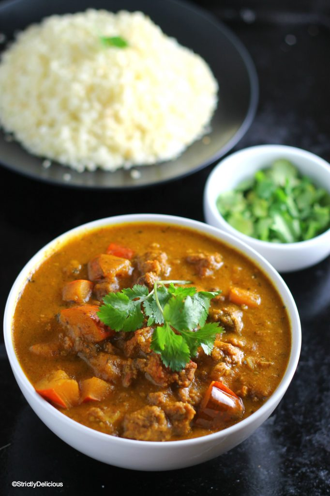 Slow Cooker Squash &Ground Beef Curry