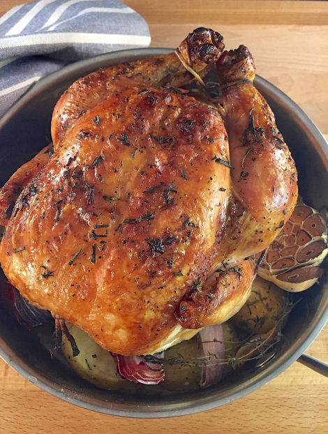 Lemon and Herb Roasted Chicken with Winter Root Veggies Recipe
