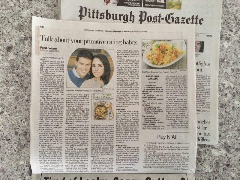Make It Paleo 2 - in Pittsburgh Post Gazette