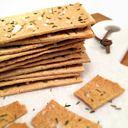 Paleo Onion Crackers with Thyme, Rosemary, and Sea Salt Recipe