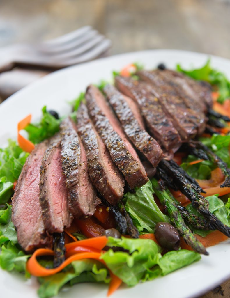 Sesame-Ginger Flank Steak Salad Recipe