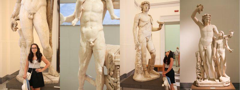 statues in naples museum