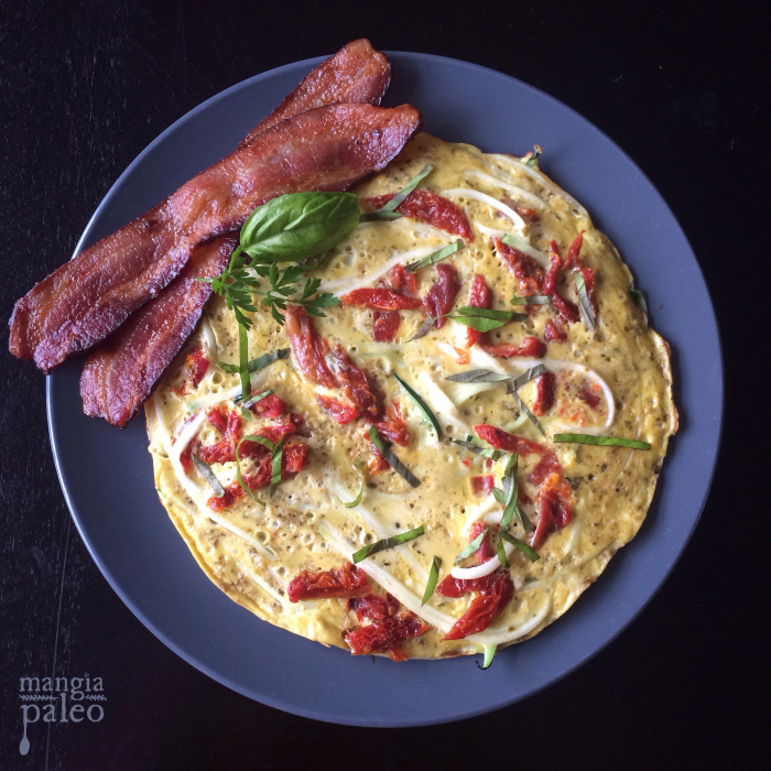zoodle pizza frittata