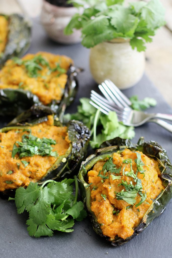 Roasted Poblano with Sweet Potato Filling Recipe