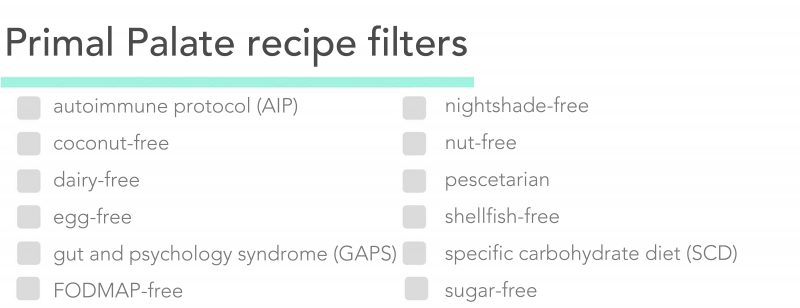 Primal Palate dietary restriction filters