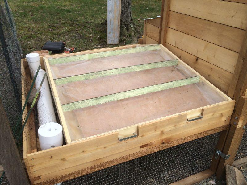 DIY green roof box, ready for soil