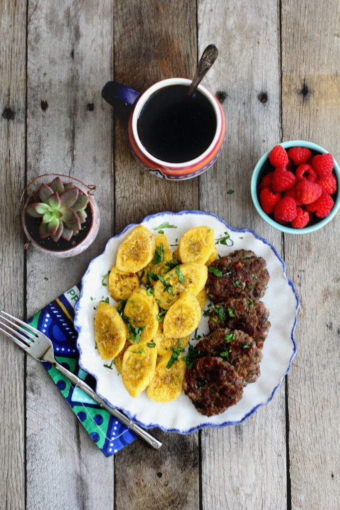 Fried Plantains and Breakfast Sausage Recipe