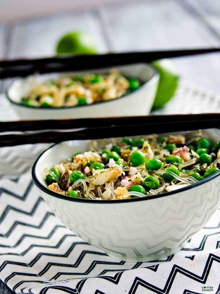 Spring Pea and Onion Noodle Bowls Recipe