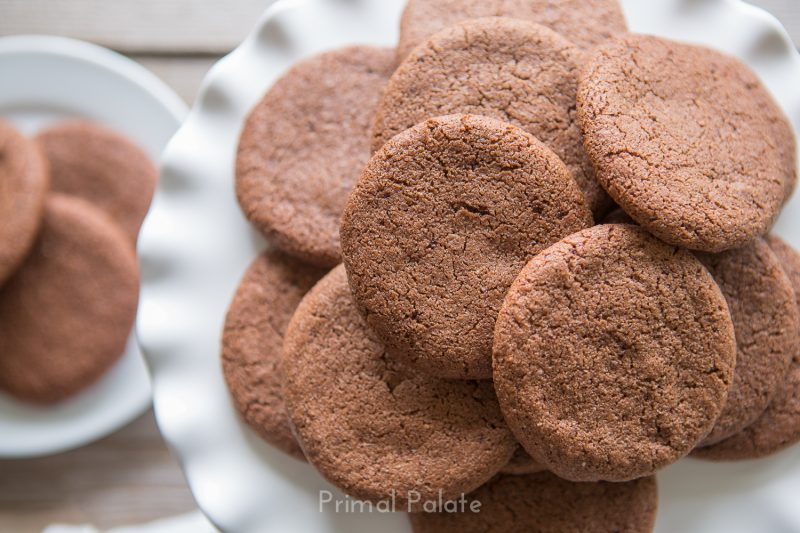 Crispy Paleo Chocolate Cookies