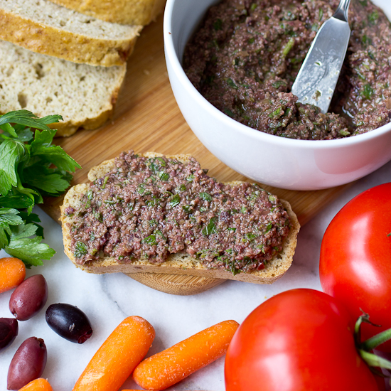 Anchovy-Free Olive Tapenade Recipe