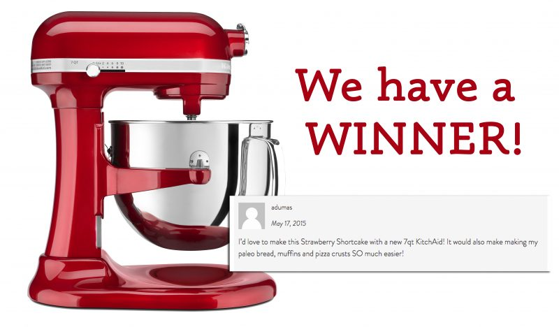 KitchenAid Giveaway Winner