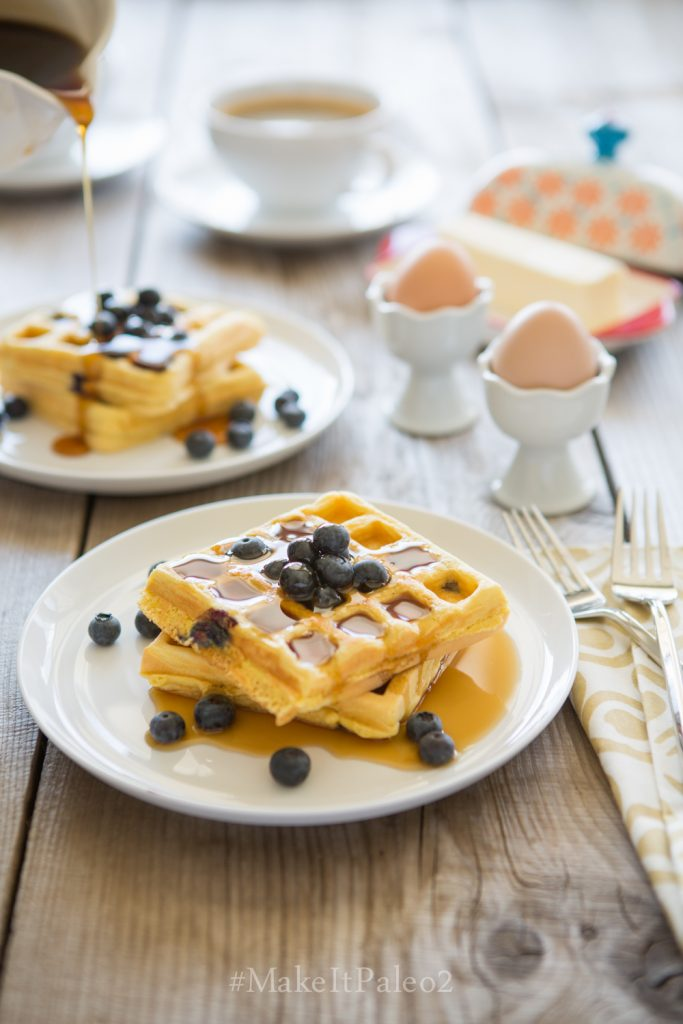 Lemon Blueberry Waffles (Make It Paleo 2) Recipe