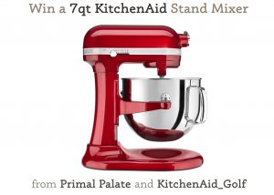 Win a 7qt KitchenAid Stand Mixer (the BIG ONE)