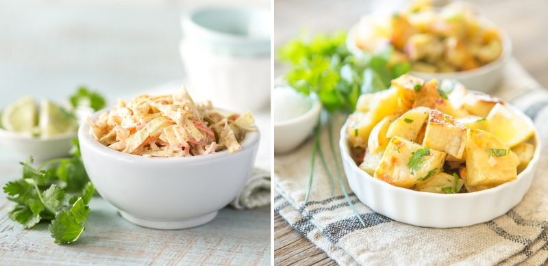 paleo potato salad and cole slaw