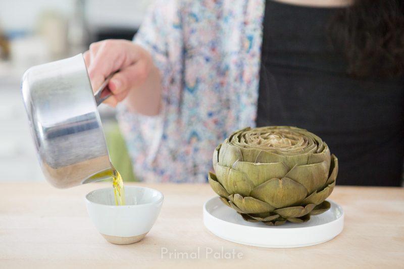 steamed artichoke   How to prepare an artichoke-17