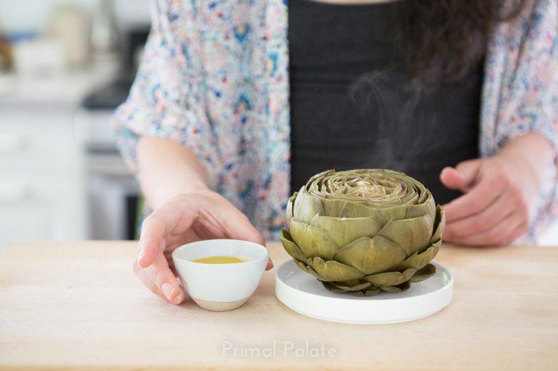 steamed artichoke   How to prepare an artichoke-18