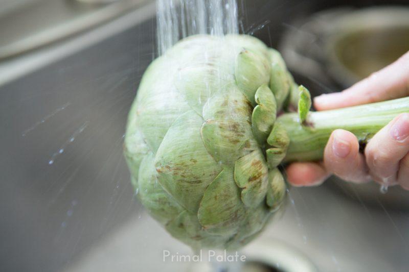steamed artichoke   How to prepare an artichoke-3