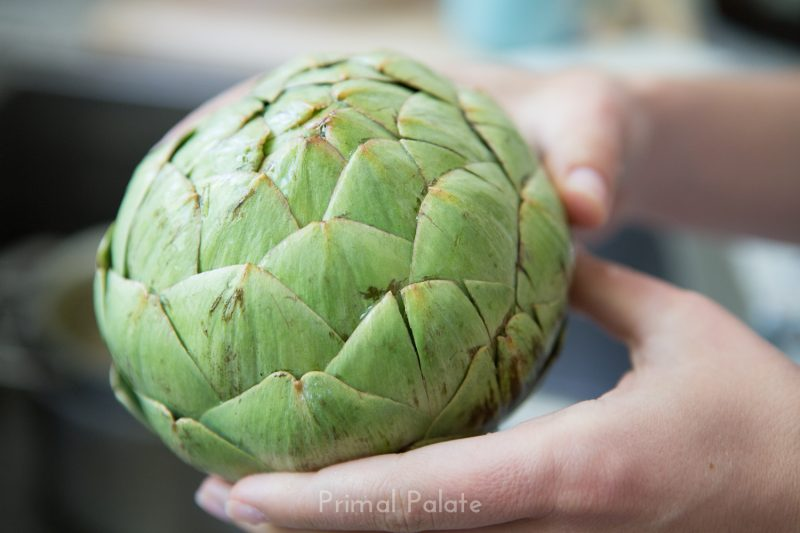 steamed artichoke | How to prepare an artichoke-4