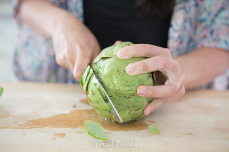 steamed artichoke   How to prepare an artichoke-7