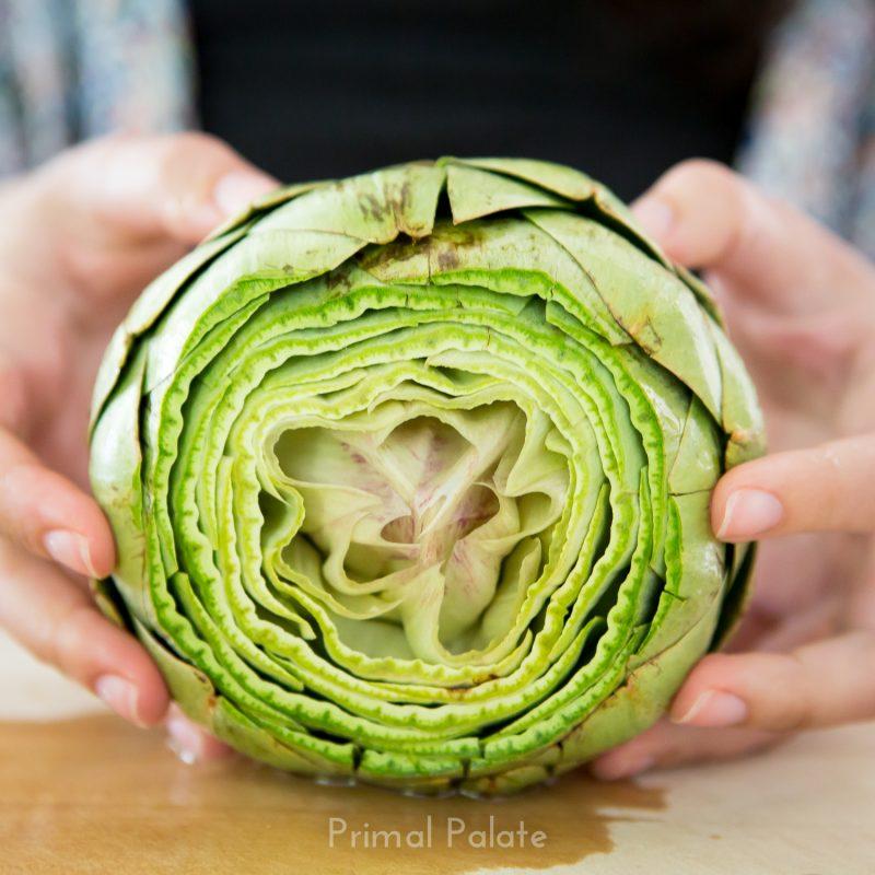 steamed artichoke | How to prepare an artichoke-8