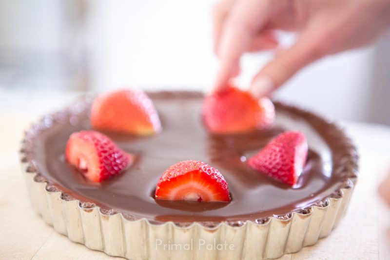 Double Chocolate Tart with Strawberries - Paleo Recipe