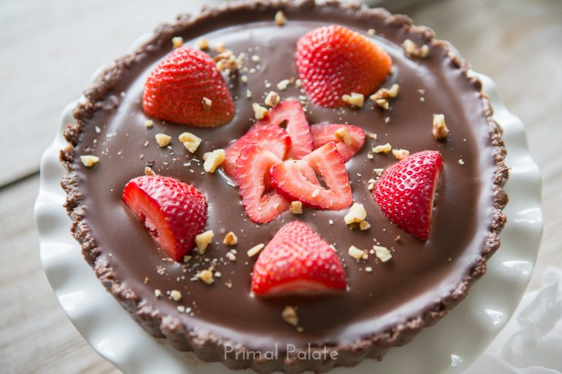 Double Chocolate Tart with Strawberries