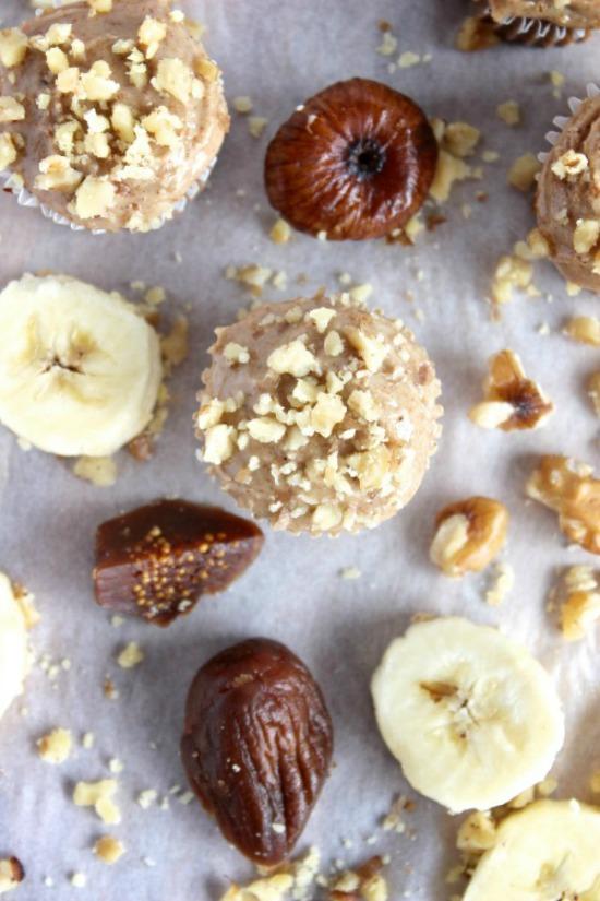 Banana, Fig & Walnut Muffins Recipe