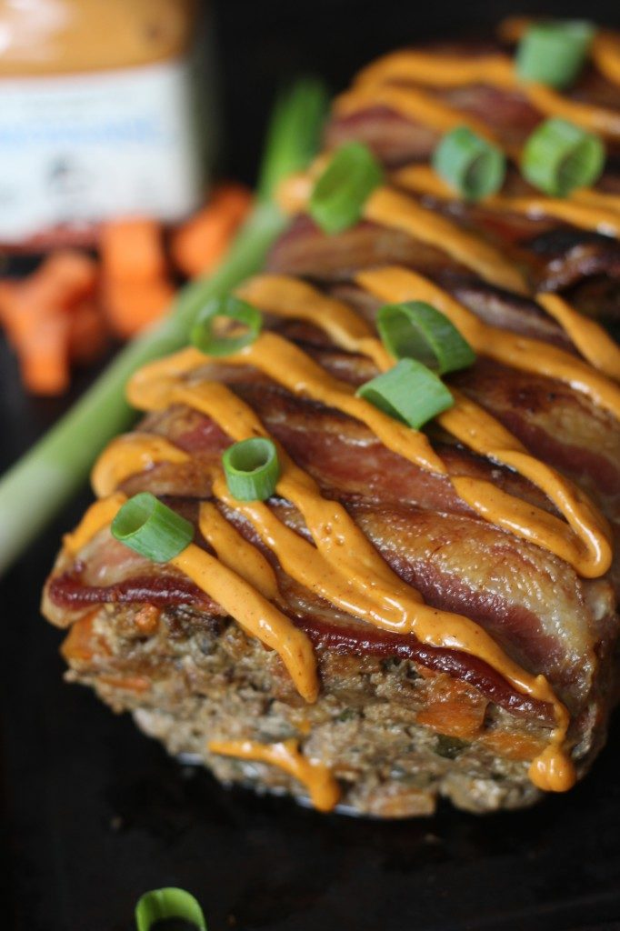 Bacon Chorizo Smothered Meatloaf