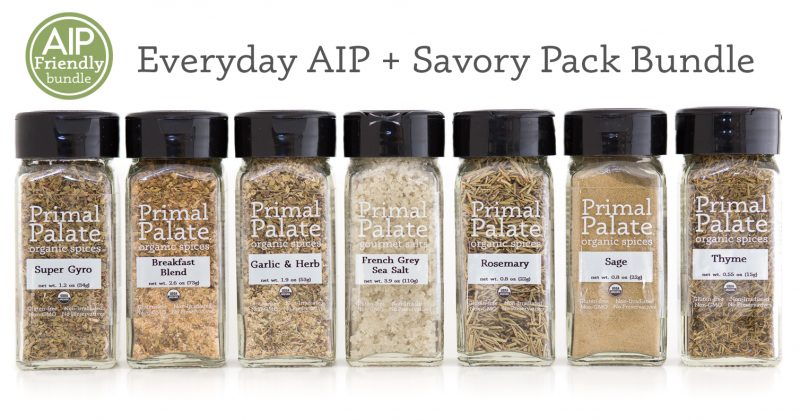 Everyday AIP Savory Pack Bundle with badge