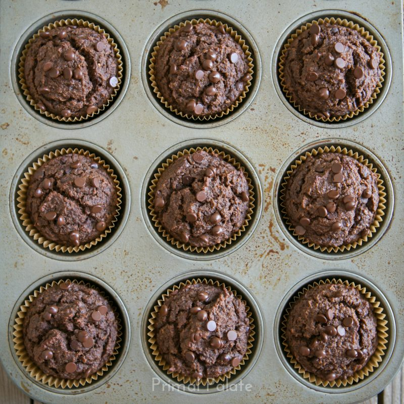 Paleo Double Chocolate Chip Muffins-10