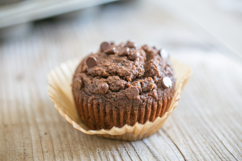 Paleo Double Chocolate Chip Muffins-15
