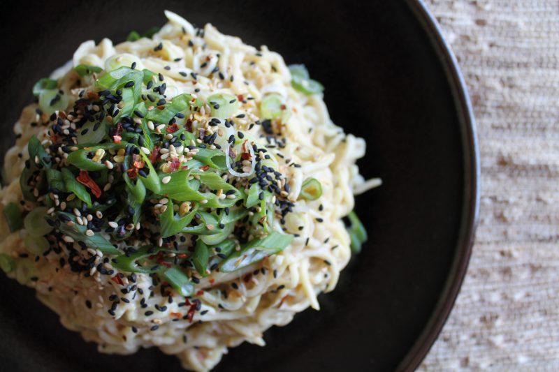 Sesame Zucchini Noodles