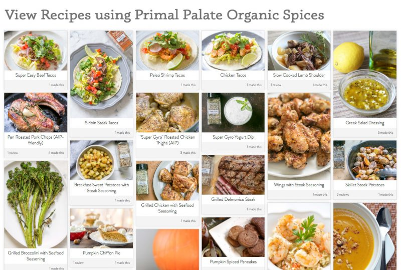 primal palate organic spice recipes