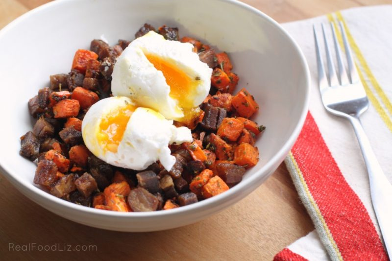 roasted carrot hash