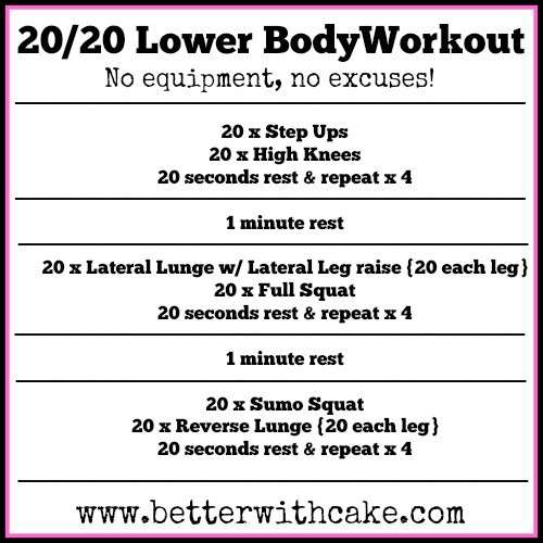 Better with Cake leg workout