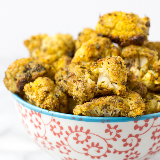 Roasted Cauliflower with Turmeric and Mint Recipe