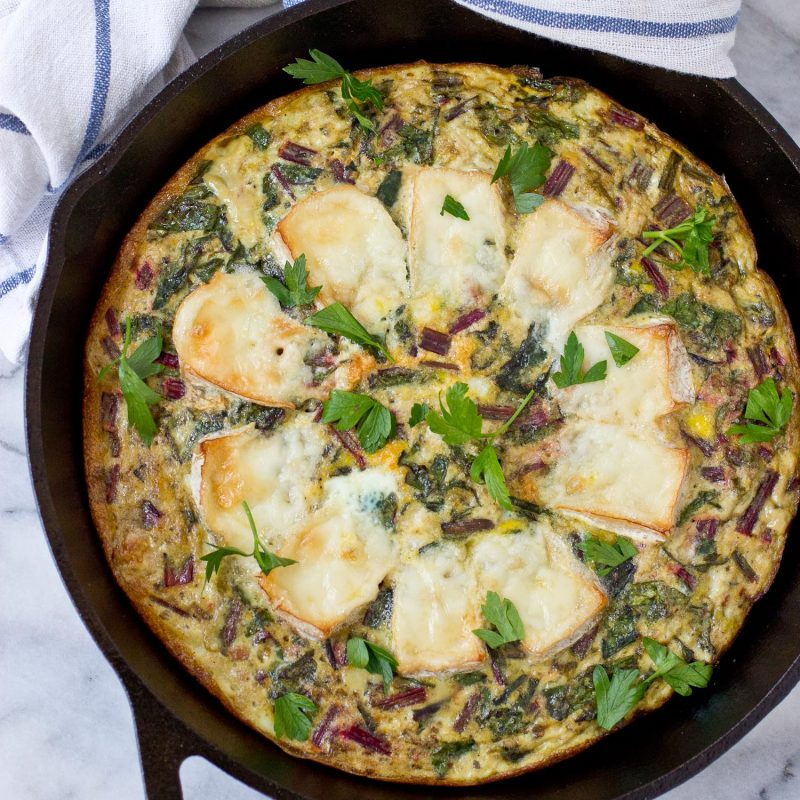 Baked Brie and Greens Frittata - Primal Palate | Paleo Recipes