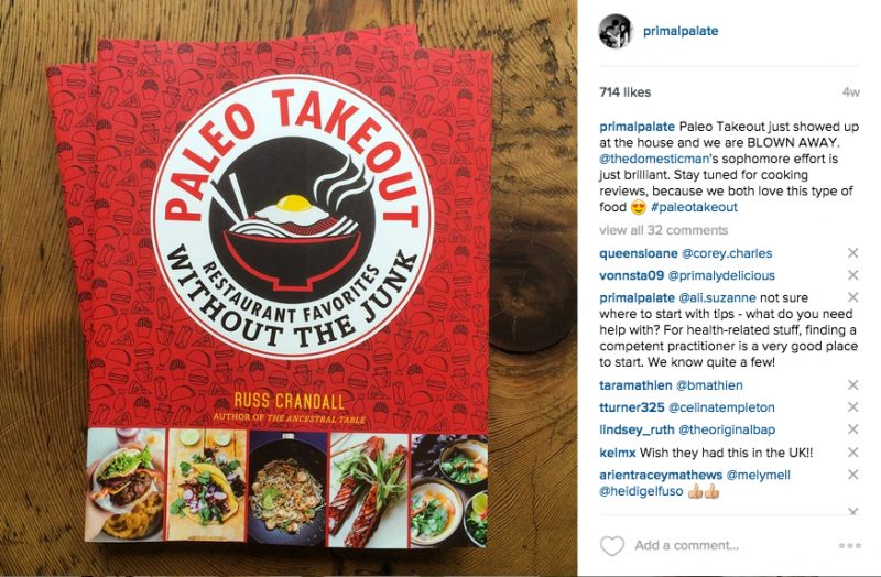 Paleo Takeout Cookbook Russ Crandall 2