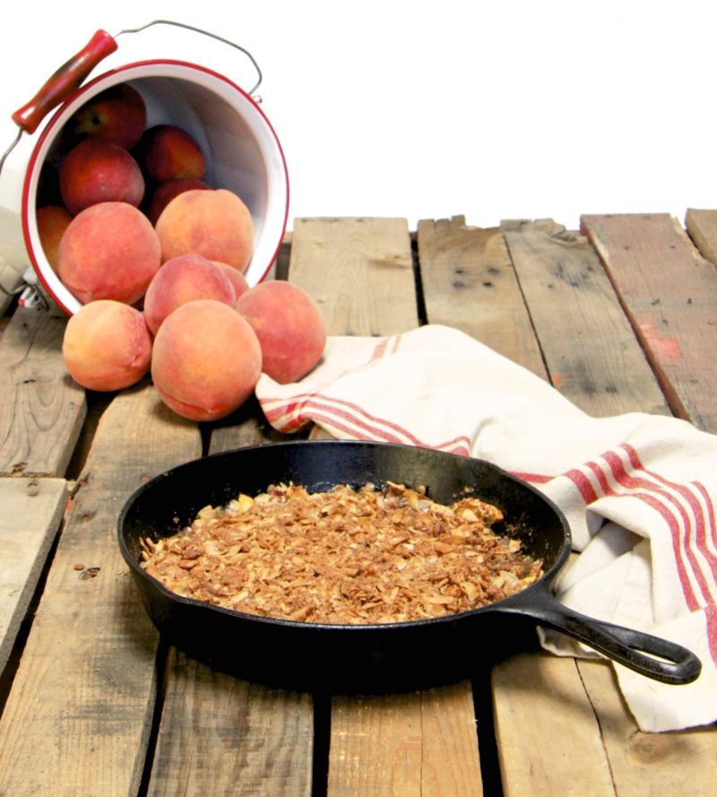 Skillet Peach Crumble Recipe