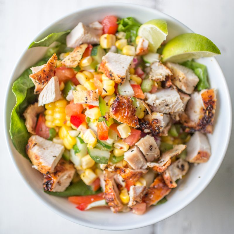 chicken salsa salad-1