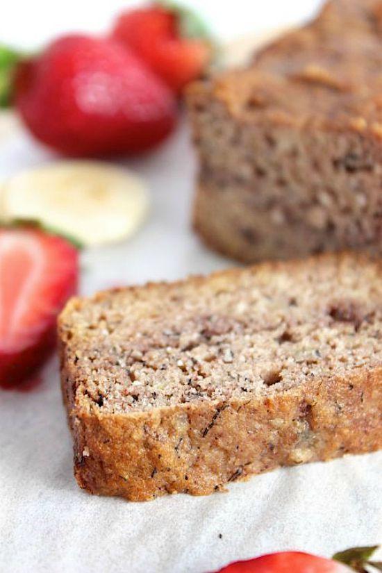 Seriously Moorish Strawberry Marbled Banana Bread Recipe